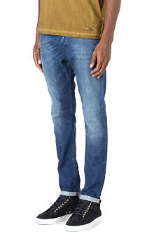 DIESEL Slim-fit carrot stretch-denim jeans