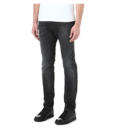 DIESEL Tepphar slim-fit tapered jeans (02 (black)