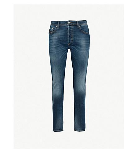 DIESEL Tepphar 褪色的修身版型锥形牛仔裤 (靛蓝