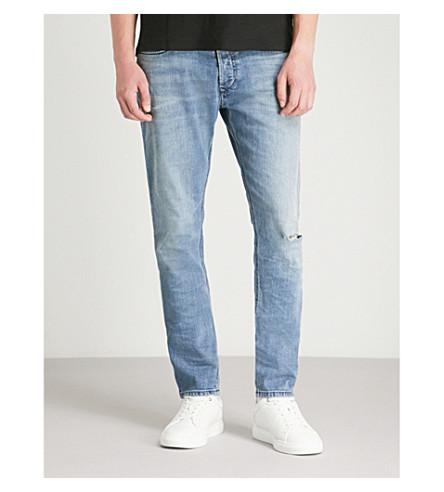 DIESEL Tepphar distressed stretch-denim skinny jeans (Indigo