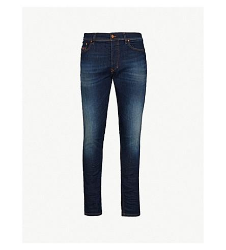 DIESEL Tepphar 修身版型锥形牛仔裤 (靛蓝