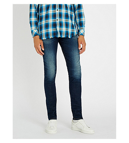 DIESEL Tepphar slim-fit tapered jeans (Indigo
