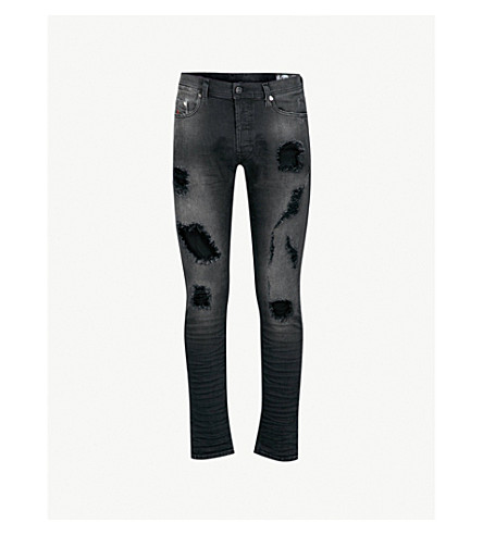 DIESEL Tepphar slim-fit carrot jeans (Denim+black