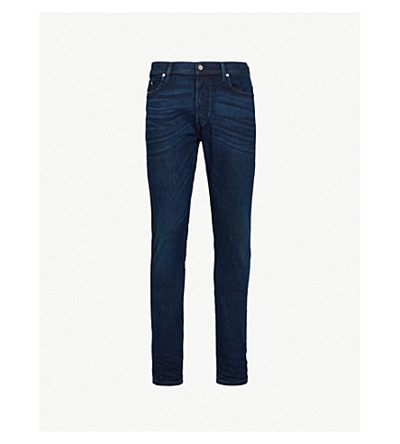 DIESEL Tepphar whiskered slim-fit tapered jeans (Indigo