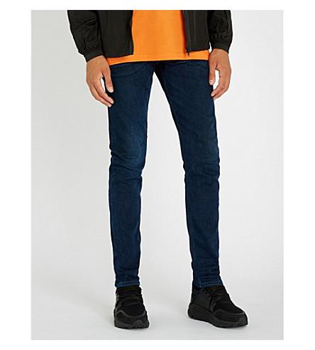 DIESEL Tepphar whiskered slim-fit tapered jeans (Indigo