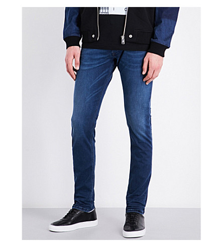 DIESEL Tepphar slim-fit carrot-leg jeans (Dark+wash+blue