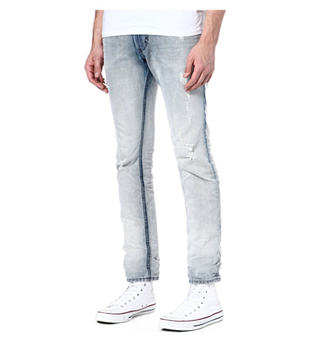 DIESEL Thavar slim-fit tapered jeans (01 (denim)