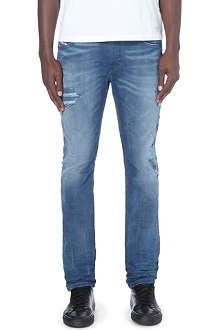 DIESEL Thavar 0833J slim-fit skinny mid-rise stretch-denim jeans