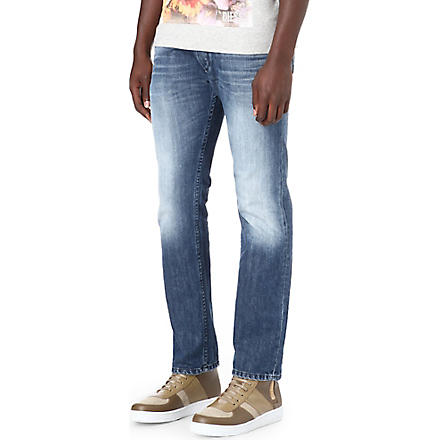 DIESEL Iakop 0817C slim-fit tapered jeans (Blue