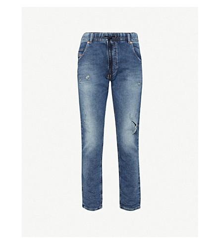 DIESEL Krooley-Ne 常规版型紧身汗牛仔裤 (靛蓝