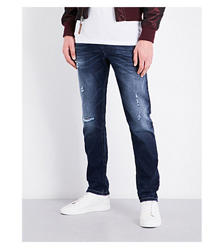 DIESEL Krooley-ne relaxed-fit tapered jogg jeans (Medium+wash+blue