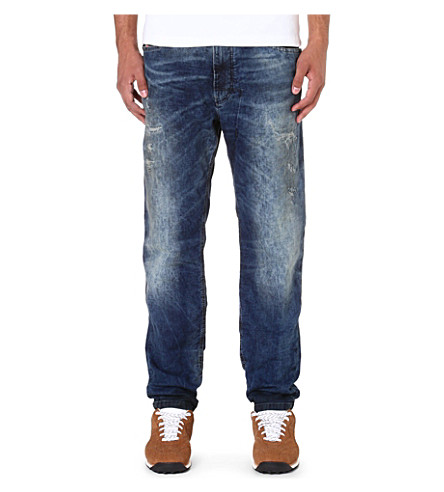DIESEL Narrot-ne 0607W regular-fit tapered jogg jeans (Blue