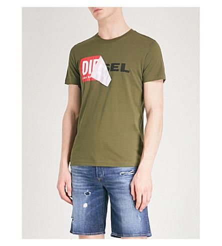 DIESEL T-Diego-Qa cotton-jersey T-shirt (Olive+night