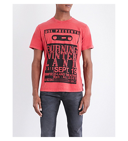 DIESEL T-Joe-Qj cotton-jersey T-shirt (Tango+red