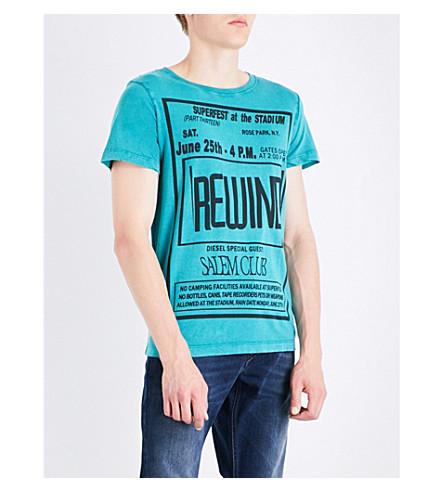 DIESEL T-Diego-Dx-Qe printed cotton-jersey T-shirt (Greenlake