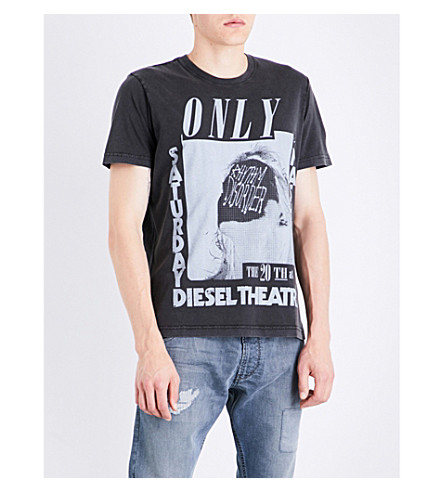 DIESEL T-Joe-Qe cotton-jersey T-shirt (Black