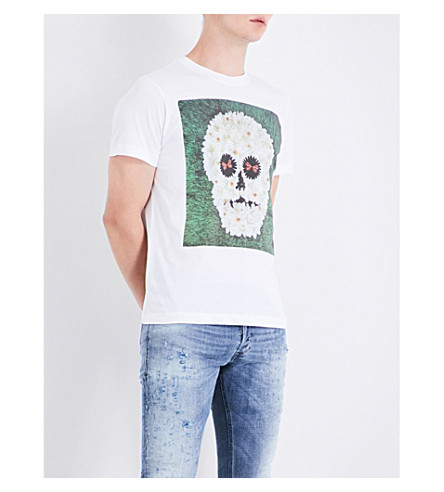 DIESEL T-Joe-Qm cotton-jersey T-shirt (Bright+white
