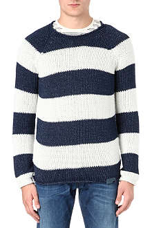 DIESEL Striped knitted jumper