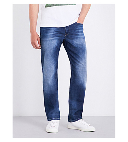 DIESEL Waykee regular-fit straight jeans (Medium+wash+blue