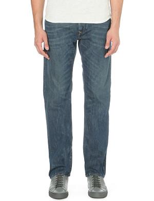DIESEL Waykee 0833M straight mid-rise denim jeans