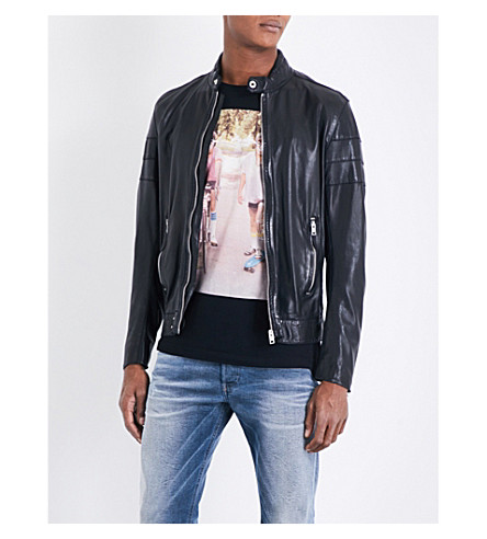 DIESEL L-tod leather jacket (Black