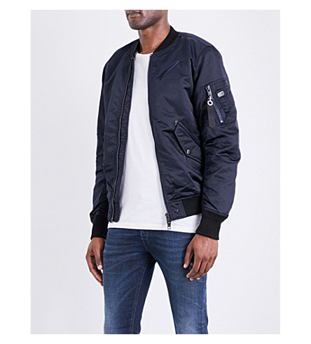 DIESEL J-quest shell bomber jacket (Peacoat+blue