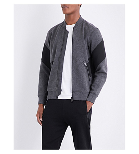 DIESEL S-Mello jersey jacket (Dark+grey+melange