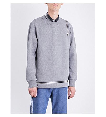 DIESEL S-Icicle cotton-blend sweatshirt (Dark+grey+melange