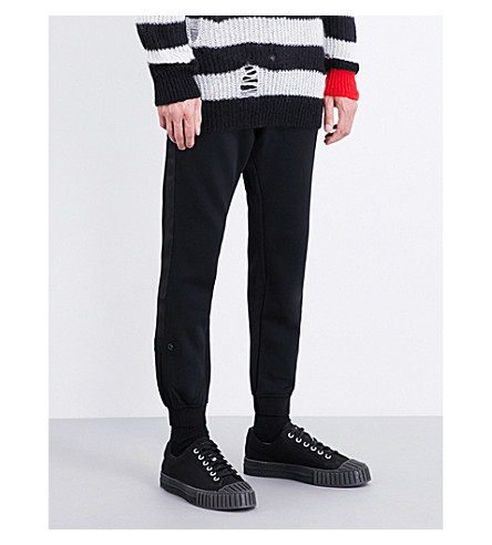DIESEL 休闲版型平纹针织面料慢跑裤 (黑色