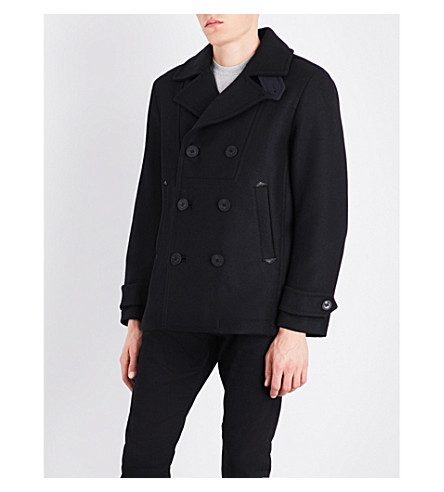 DIESEL W-Banff double-breasted wool-blend jacket (Black
