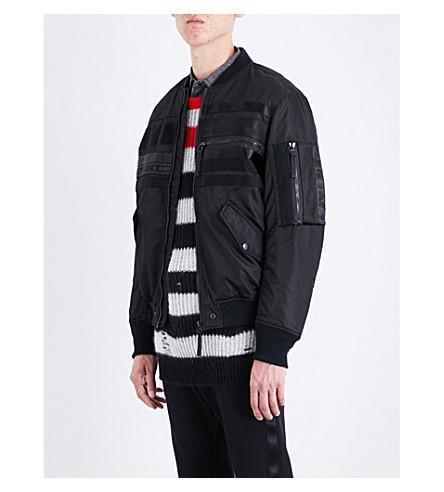 DIESEL J-wapusk shell bomber jacket (Black