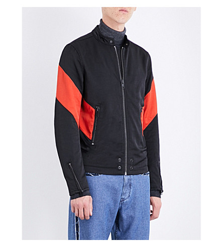 DIESEL J-gulf shell bomber jacket (Black