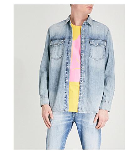 DIESEL D-Rooke regular-fit faded denim shirt (Denim