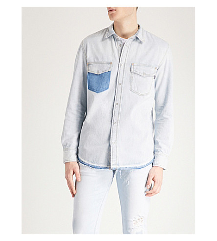 DIESEL Drooke regular-fit distressed denim shirt (Denim