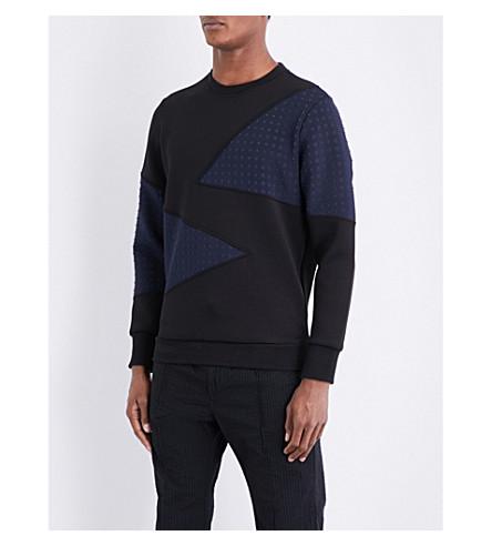 DIESEL S-Barbet neoprene sweatshirt (Black