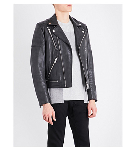 DIESEL L-Primus leather jacket (Black