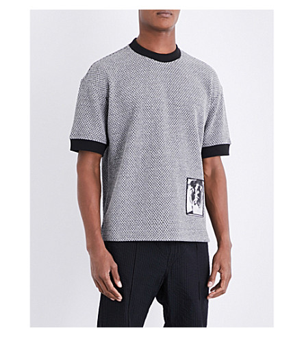DIESEL S-Zolas knitted short-sleeved top (Light+grey+melange