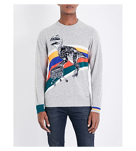 DIESEL K-dino alpaca-blend jumper (Light+grey+melange