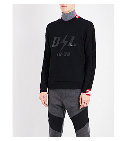 DIESEL K-kent cotton-blend sweatshirt (Black