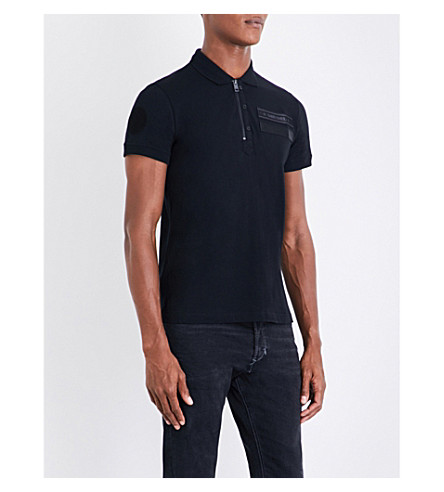 DIESEL T-snow cotton-piqué polo shirt (Black