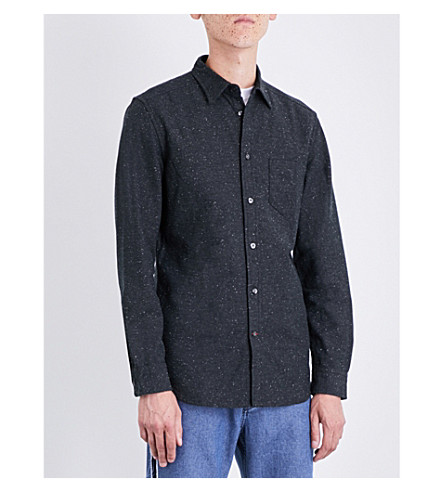 DIESEL S-Gru cotton Oxford shirt (Black