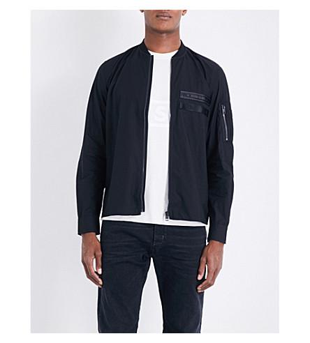 DIESEL S-atom regular-fit cotton shirt (Black