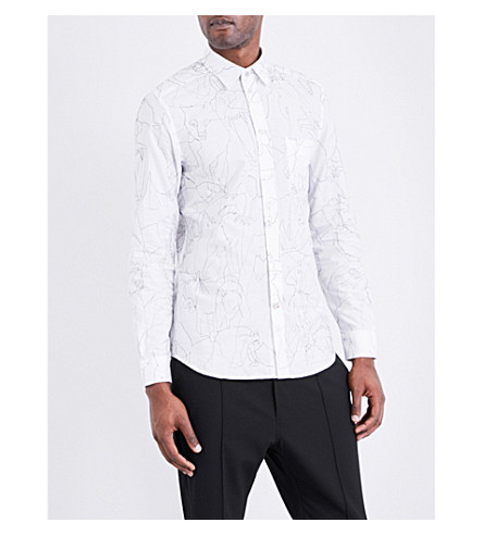 DIESEL S-Guru stitched cotton shirt (Bright+white