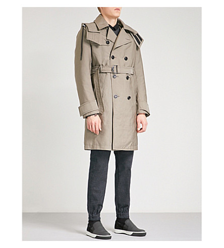 DIESEL W-seeds hooded woven coat (Bungee+cord