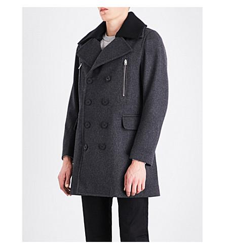 DIESEL W-Munford wool-blend jacket (Grey