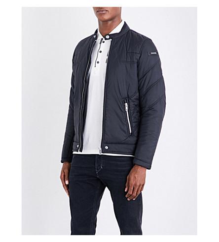 DIESEL W-deacon branded shell jacket (Black