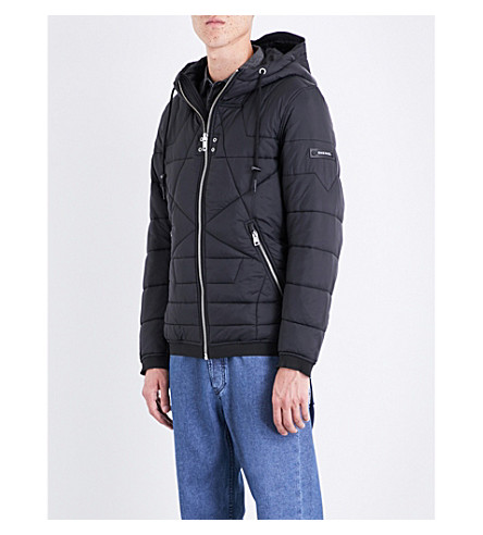 DIESEL W-david quilted jacket (Black