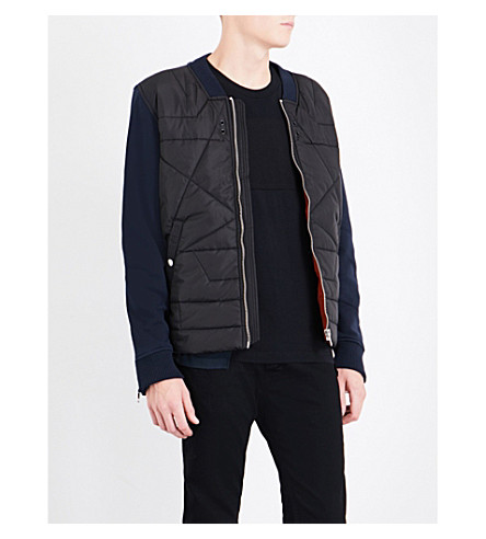 DIESEL S-Kings shell and cotton-blend bomber jacket (Total+eclipse