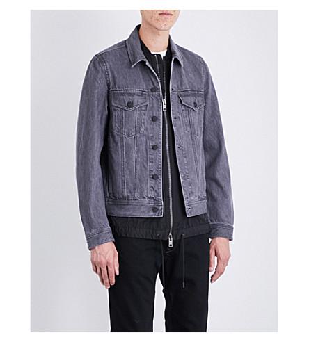 DIESEL D-Ashton-C denim jacket (Grey+sulphur+denim