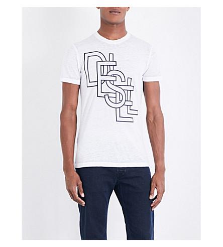 DIESEL T-Diego-Rg jersey T-shirt (Bright+white